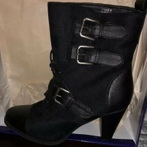 Madden Girl New Funky Cynder MOTO Boots 8M